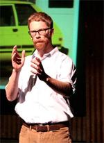 Austin Bunn presenting lavender short documentary